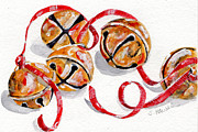 Christmas Card Painting Originals - Jingle Bells by Sheryl Heatherly Hawkins