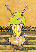 Ice-cream Paintings - JN315 Between Friends by Jen Norton