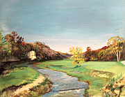 Fall Trees With Stream. Art - Jo Daviess County Illinois by Art By Tolpo Collection