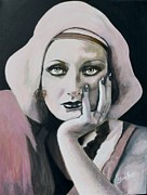 Film Painting Originals - Joan Crawford by Shirl Theis