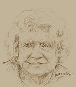 Portraiture Drawings Prints - Joan Print by  Maestro