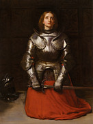 Kneeling Prints - Joan Of Arc Print by John Everett Millais