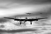 Lancaster Bomber Digital Art - Job Done by James Biggadike
