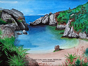 Travel Destination Painting Originals - Jobsons Cove by Marco Carrillo