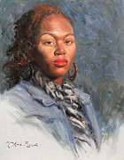 African-american Paintings - Jocelyn by Anna Bain