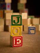 Joe Photos - JOE - Alphabet Blocks by Edward Fielding