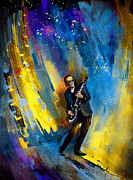 Guitarists Paintings - Joe Bonamassa 03 by Miki De Goodaboom