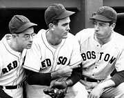 Boston Sox Photo Prints - Joe DiMaggio Poster Print by Sanely Great