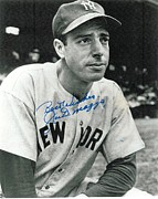 Signed Framed Prints - Joe DiMaggio Signed Poster Framed Print by Sanely Great
