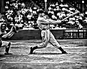 Joe Dimaggio World Series Art - Joe DiMaggio Swing by Florian Rodarte