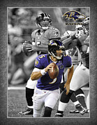 Touchdown Framed Prints - Joe Flacco Ravens Framed Print by Joe Hamilton
