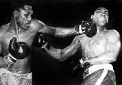 Boxing  Photo Prints - Joe Frazier Vs. Muhammad Ali Print by Everett