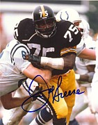 Pittsburgh Steelers Photos - Joe Green Signed Poster by Sanely Great
