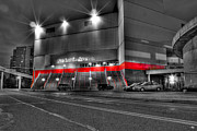 Arena Digital Art Prints - Joe Louis Arena Detroit MI Print by B And G Art