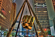 Detroit Digital Art - Joe Louis Fist Detroit MI by B And G Art