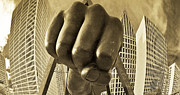 Detroit Photography Posters - Joe Louis Fist in Detroit Poster by John McGraw