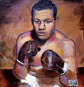 Robert Phelps Robert Phelps Art Framed Prints - Joe Louis Framed Print by Robert Phelps