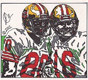 Joe Montana And Jerry Rice Print by Jeremiah Colley