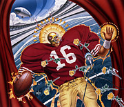 Montana Digital Art Originals - Joe Montana and The San Francisco Giants by Garth Glazier