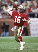 Joe Photos - Joe Montana throwing the ball by Sanely Great
