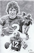 Pro Football Prints - Joe Namath Print by Jonathan Tooley