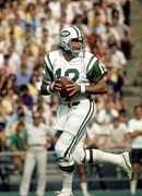 Jets Photo Metal Prints - Joe Namath NFL Legend Metal Print by Sanely Great