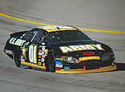 Pit Mixed Media Prints - Joe Nemechek Army Chevrolet Print by Paul Kuras