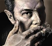 Smoking Paintings - Joe Strummer-Burning Lights by Reggie Duffie