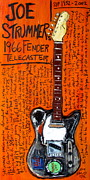 Fender Telecaster Framed Prints - Joe Strummers 1966 Telecaster Framed Print by Karl Haglund