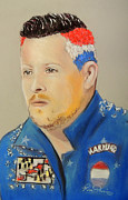 Featured Pastels Posters - Joel Madden Poster by Ruth Jamieson