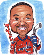 Hockey Mixed Media - Joel Ward by Paul Nichols