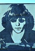 Henry Rollins Framed Prints - Joey Ramone Framed Print by Allen Beatty