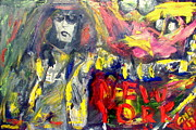 Lead Singer Painting Prints - Joey Ramone Print by Greg Mason Burns