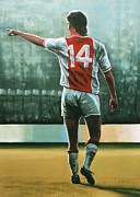 Johan Cruijff Nr 14 Print by Paul Meijering