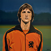 Johan Cruyff Oranje Print by Paul  Meijering
