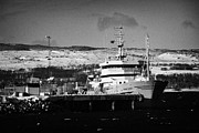 Trawler Metal Prints - Johan Hjort Institute Of Maine Research Fisheries And Environmental Trawler Berthed In Kirkenes Finn Metal Print by Joe Fox