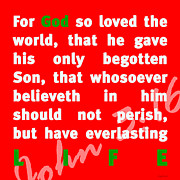 Phrase Prints - John 3-16 20130215 Print by Wingsdomain Art and Photography