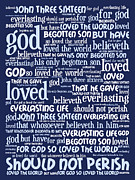 John 3-16 For God So Loved The World 20130622bwco80 Vertical Print by Wingsdomain Art and Photography