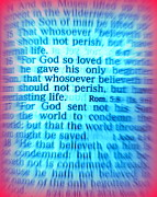 Redeemer Framed Prints - John 3 16 KJV Holy Bible Framed Print by Roberto Gagliardi