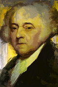 John Adams Print by Corporate Art Task Force