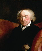 American Revolution Paintings - John Adams by Gilbert Stuart