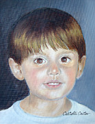 Toddler Portrait Paintings - John Albert McCann by JoAnne Castelli-Castor