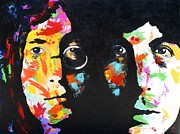Paul Mccartney Portrait Paintings - John and Paul by Joyce Sherwin