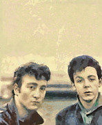Paul Mccartney Digital Art - John and Paul When It All Started by Paulette Wright
