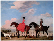 Man And Woman Paintings - John and Sophia Musters Riding at Colwick Hall by George Stubbs