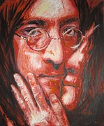 Beatles Painting Originals - John and Yoko Portrait Two by Erick Nogueda