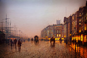 Delacroix Prints - John Atkinson Grimshaw Liverpool from Wapping 1885 Print by MotionAge Art and Design - Ahmet Asar