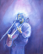 David Sockrider Posters - John Bell - Widespread Panic Poster by David Sockrider