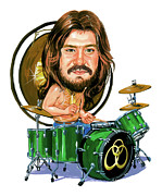 Caricatures Painting Prints - John Bonham Print by Art