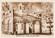 Abolition Prints - John Browns Fort - Harpers Ferry West Virginia - Modern Day Sepia Print by Michael Mazaika